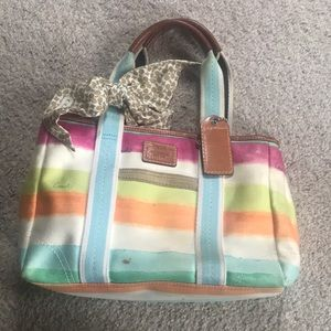 Coach purse with coach scarf